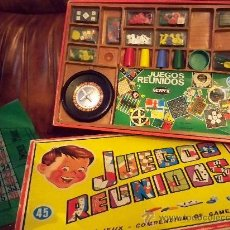 Juegos de mesa: ANTÍGUA CAJA DE JUEGOS REUNIDOS GEYPER DE 45 JUEGOS - LA CAJA Y LOS JUEGOS - LE F. Lote 26724964
