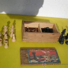 Juegos de mesa: FICHAS DE AJEDREZ DE MADERA ANTIGUA. Lote 24492660
