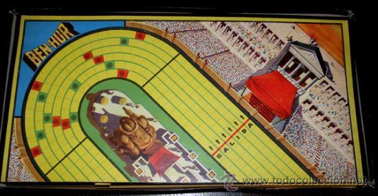 Juegos de mesa: ANTIGUO JUEGO DE CARRERAS DE CUADRIGAS - BEN-HUR - JUGUETES BORRAS MATARO - COMPLETO Y ORIGINAL - AÑ - Foto 4 - 26340941