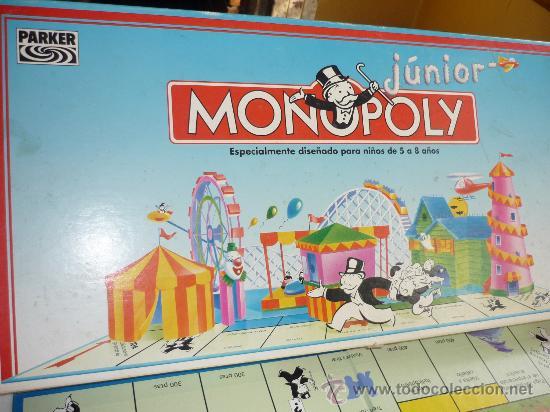 Monopoly Junior De Parker Comprar Juegos De Mesa Antiguos En