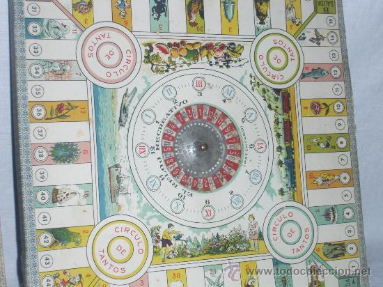 Juegos de mesa: Juego mesa parecido a la oca. Antiguo. Aproximadamente de los años 30. - Foto 4 - 26733814