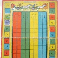 Juegos de mesa: TABLERO DE CARTÓN PARA EL JUEGO DE LAS QUINIELAS. DIBUJO DE KARPA. AÑOS 50-60.. ENVIO GRATIS¡¡¡. Lote 25748289