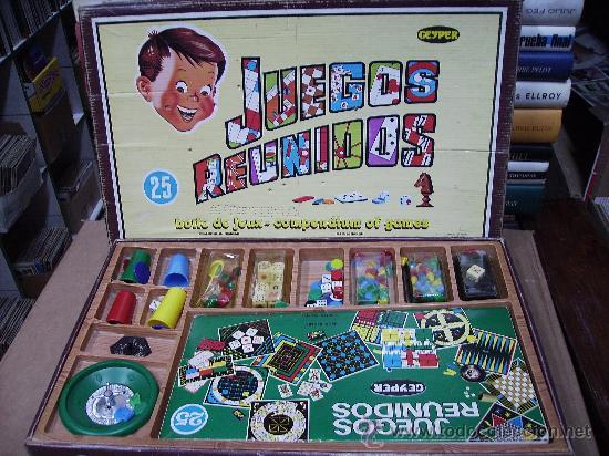 Juegos Reunidos Geyper 25 En Caja Comprar Juegos De Mesa Antiguos