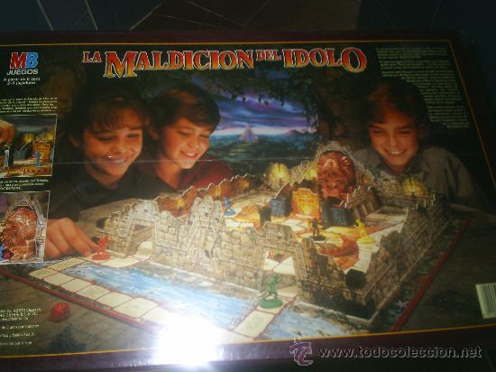 ANTIGUO JUEGO 3D DE LA CASA MB LA MALDICION DEL IDOLO MAGICO ¡¡¡¡ MUY DIFICIL!!!!!! PRECINTADO (Juguetes - Juegos - Juegos de Mesa)