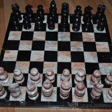 Juegos de mesa: AJEDREZ DE MARMOL CON LAS FIGURAS BIEN DEFINIDAS. Lote 30368553