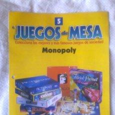 Juegos de mesa: JUEGOS DE MESA Nº 5-MONOPOLY-ORBIS-FABBRI-RBA EDITORES-2002 HASBRO-COLECCIONABLE EN PAPEL-. Lote 27726658