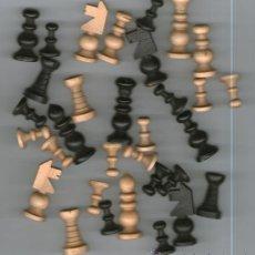 Juegos de mesa: PIEZAS DE AJEDREZ EN MADERA, AÑOS 60 ( SIN TABLERO ). Lote 27717794
