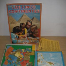 Juegos de mesa: ANTIGUO JUEGO DE MESA LOS CINCO CONTINENTES - EDUCA - NO ESTOY SEGURO DE SI ESTA COMPLETO.. Lote 27849226
