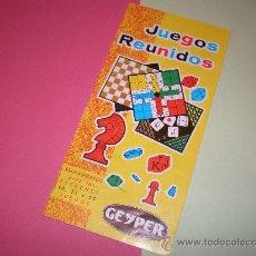 Juegos de mesa: JUEGOS REUNIDOS GEYPER,REGLAMENTO ESTUCHES 10 -15 -25. Lote 27953851