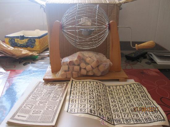 Antiguo Juego De Mesa De Loteria Familiar Con B Comprar Juegos De