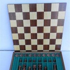 Juegos de mesa: JUEGO DE AJEDREZ Y DAMAS MADERA. Lote 28811949