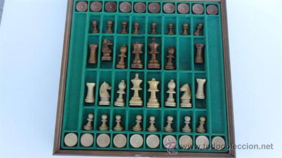 Juegos de mesa: juego de ajedrez y damas madera - Foto 2 - 28811949