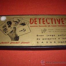 Juegos de mesa: JUGUETES - FRANCISCO ROSELLO - DETECTIVES - JUEGO AÑOS 40 -. Lote 29026487
