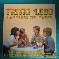 Juegos de mesa: TRIVIO 1000. JUGUETES FALOMIR S.A LA ELIANA ( VALENCIA ) AÑO 1989. Lote 29085893