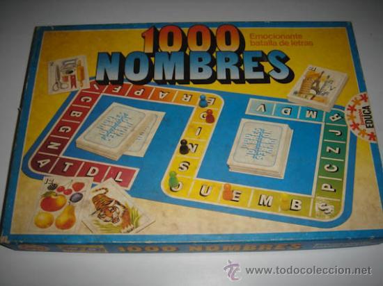 Juego 1000 Nombres De La Casa Educa Comprar Juegos De Mesa