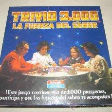 Juegos de mesa: TRIVIO 3000 LA FUERZA DEL SABER (SIMILAR AL TRIVIAL PURSUIT). Lote 29563942