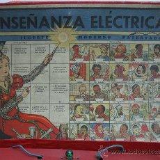 Juegos de mesa: JUGUETE INSTRUCTIVO J.M. ENSEÑANZA ELÉCTRICA -JUGUETE MODERNO PATENTADO-. Lote 29595376