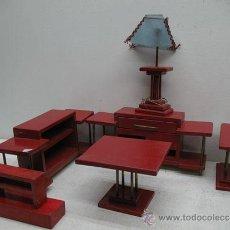 Juegos de mesa: JUEGO DE MUEBLES DE SALON DE MADERA DE 7 PIEZAS.. Lote 29595413
