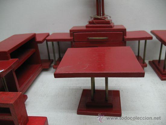 Juegos de mesa: JUEGO DE MUEBLES DE SALON DE MADERA DE 7 PIEZAS. - Foto 2 - 29595413