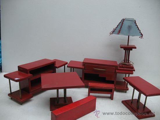 Juegos de mesa: JUEGO DE MUEBLES DE SALON DE MADERA DE 7 PIEZAS. - Foto 5 - 29595413