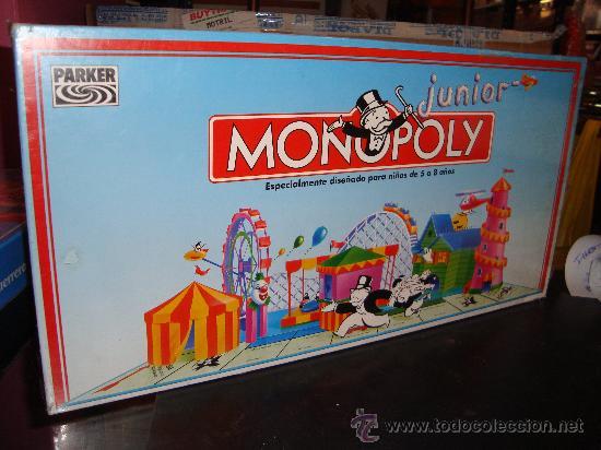 Juego Monopoly Junior Mb Parker Ano 92 Pr Comprar Juegos De