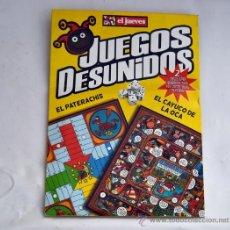 Juegos de mesa: JUEGOS DESUNIDOS / EL PATERACHIS - EL CAYUCO DE LA OCA**JUEGOS DE LA REVISTA EL JUEVES. Lote 30217552