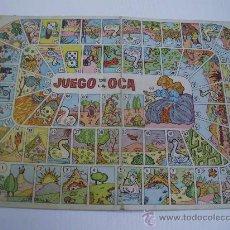 Juegos de mesa: ANTIGUO TABLERO DE CARTON JUEGO DE LA OCA. Lote 30274374