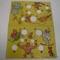 Juegos de mesa: ANTIGUO TABLERO DE CARTON - JUEGO DEL SALTAMONTES. Lote 30274413