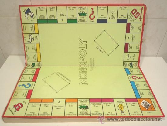 Antiguo Monopoly Ingles Comprar Juegos De Mesa Antiguos En