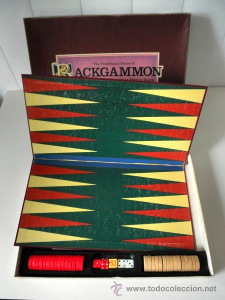 JUEGO DE MESA * THE TRADITIONAL GAME OF BACKGAMMON * COMPLETO (Juguetes - Juegos - Juegos de Mesa)