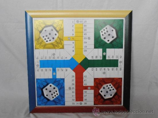 PARCHIS GRANDE TABLERO MARCO COLORES (Juguetes - Juegos - Juegos de Mesa)