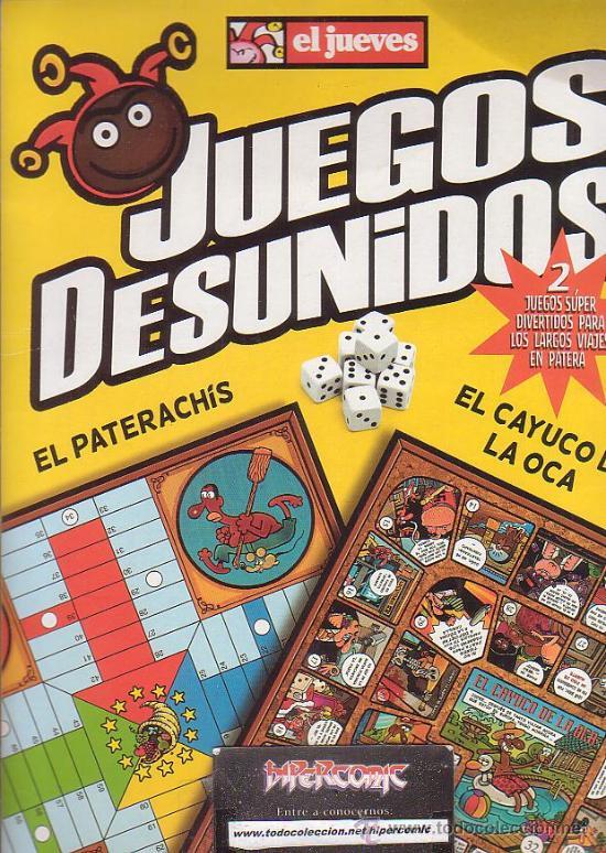 JUEGOS DESUNIDOS, EL PATERACHIS , EL CAYUCO DE LA OCA (Juguetes - Juegos - Juegos de Mesa)