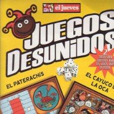 Juegos de mesa: JUEGOS DESUNIDOS, EL PATERACHIS , EL CAYUCO DE LA OCA. Lote 78384771