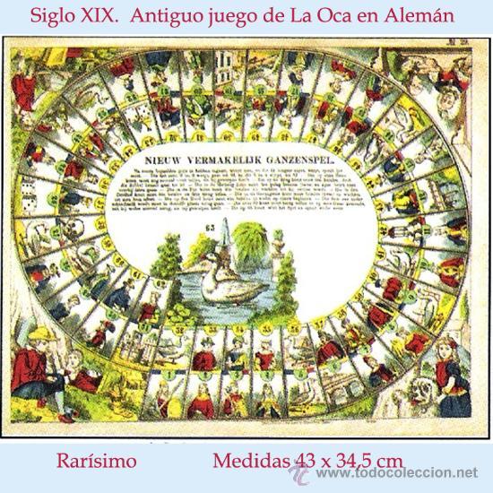 S xix antiguo juego de la oca en holandes d comprar juegos de mesa antiguos en - La oca juego de mesa ...