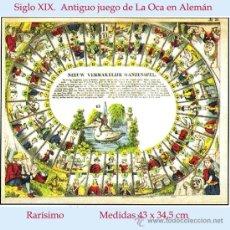 Juegos de mesa: S. XIX.- ANTIGUO JUEGO DE LA OCA EN HOLANDES, DISEÑO - DEPOSÉ (REGISTRADO) - RARISIMO.. Lote 31980216