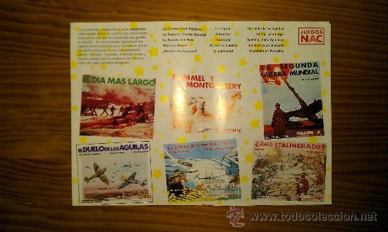 JUEGOS NAC /CATÁLOGO DE JUEGOS. (PARCIAL, SOLO TRAE ALGUNAS DE LAS NOVEDADES DE LA EPOCA) (Juguetes - Juegos - Juegos de Mesa)