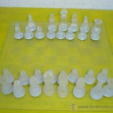Juegos de mesa: JUEGO DE AJEDREZ DE CRISTAL. Lote 32079460