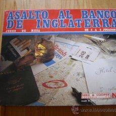 Juegos de mesa: JUEGO TEMATICO NAC - ASALTO AL BANCO DE INGLATERRA - 1982 - COMPLETO - SEMI-NUEVO . Lote 32646696