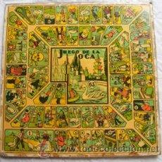 Juegos de mesa: LÁMINA JUEGO : JUEGO DE LA OCA / PARCHIS. Lote 32914529