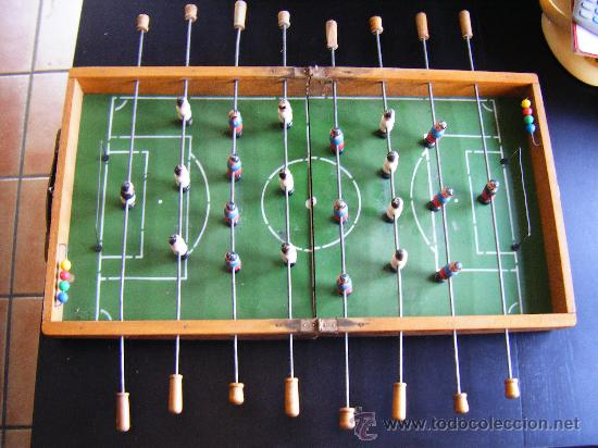 Antiguo Futbolin De Madera Plegable Anos 1960 7 Comprar Juegos De