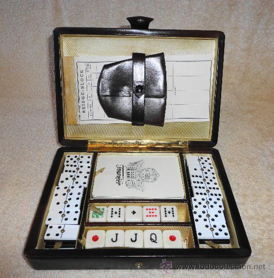 Estuche Varios Juegos De Mesa Domino Baraja Comprar Juegos De