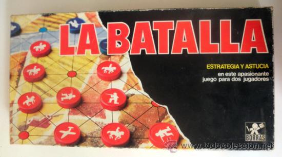 LA BATALLA * JUEGO DE MESA DE ESTRATEGIA Y ASTUCIA PARA DOS JUGADORES * BORRAS (Juguetes - Juegos - Juegos de Mesa)
