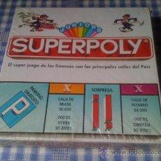 Juegos de mesa: SUPERPOLY JUNIORS TAL COMO MONOPOLY ANTIGUO JUEGO VINTAGE DE MESA COMPLETO Y NUEVO. Lote 62226256