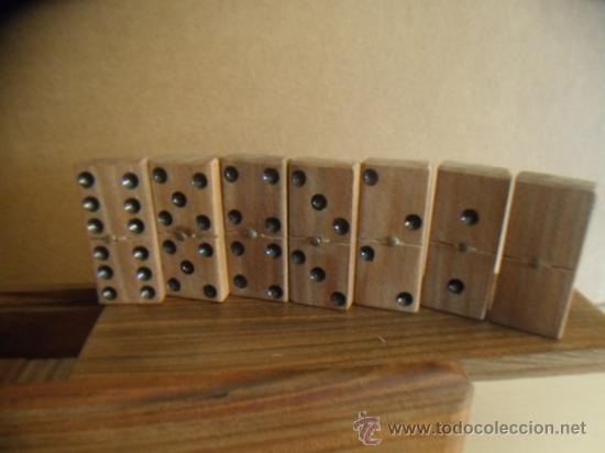 Domin en madera hecho a mano en caja de made comprar - Mesas de madera hechas a mano ...