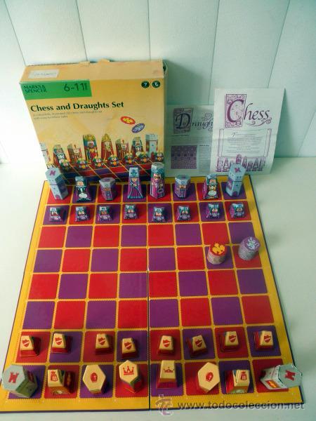 Chess And Draughts Set 3d Illustrated Tablero Comprar Juegos De