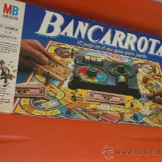 Juegos de mesa: JUEGO BANCARROTA. MB JUEGOS. Lote 33668582