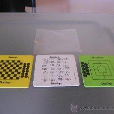 Juegos de mesa: 3 JUEGOS DANONE DANUP, DOMINO, DAMAS Y EL MOLINO. AÑOS 80.. Lote 33779170