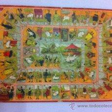 Juegos de mesa: ANTIGUO CARTON CON JUEGO DE LA OCA - AÑOS 20 - MIDE 35,5 X 27 CMS. - LITOGRAFIADO, TAL COMO SE VE E. Lote 34130927