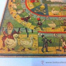Juegos de mesa: ANTIGUO CARTON CON JUEGO DE LA OCA - AÑOS 20 - MIDE 35,5 X 27 CMS. - LITOGRAFIADO. Lote 34130959