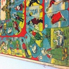 Juegos de mesa: ANTIGUO CARTON CON JUEGO DE LA OCA I PARCHIS - AÑOS 20 - MIDE 32 X 32 CMS. - LITOGRAFIADO. Lote 34130985